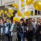 Umberto I, palloncini in cielo contro il cancro infantile
