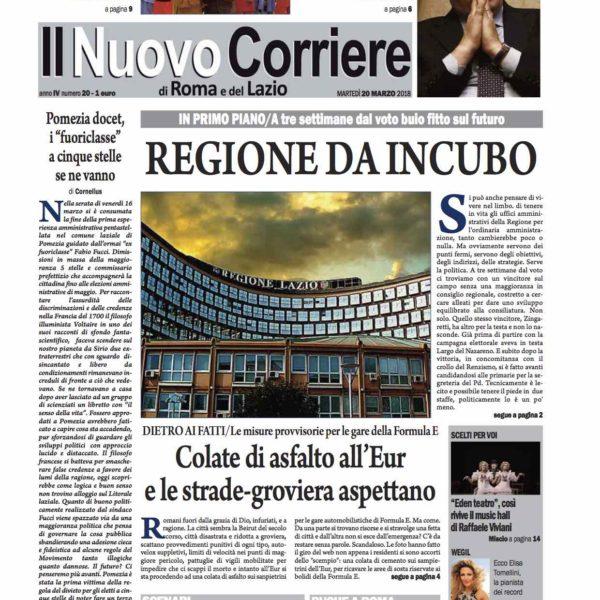 Il Nuovo Corriere n.20 del 20 marzo 2018 ok