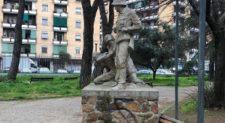 QUADRARO – Svastica su monumento vittime rastrellamenti nazisti