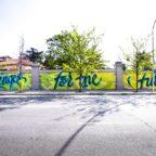 SPALLANZANI - Murales, taglio del nastro a via Folchi