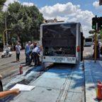 REGINA ELENA - Autobus prende fuoco