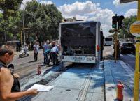 REGINA ELENA – Autobus prende fuoco