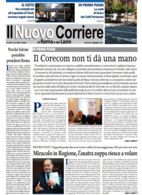 Il Nuovo Corriere di Roma e del Lazio n.55 – Anno IV + Cronache Nazionali n.54 – Anno III