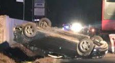 NETTUNO – Si ribalta al volante ubriaco e senza patente, muore la figlia