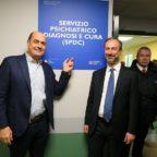 Il presidente della Regione Lazio Nicola Zingaretti In visita al reparto dell'SPDC al San Filippo Ne...