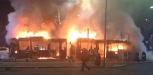 PRATI – Altro autobus in fiamme a Piazzale Clodio