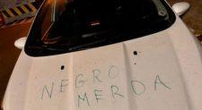 """PIGNETO – Scritta razzista sull'auto di un medico della Croce rossa: """"Negro di m…"""""""