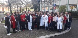 Spallanzani, una panchina rossa contro la violenza alle donne