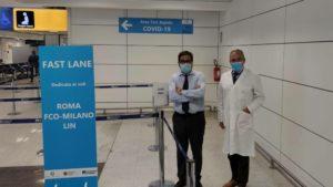 Coronavirus voli covid free Roma-Milano-2