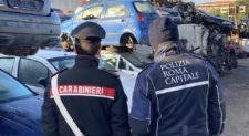 LAURENTINA –  Maxi sequestro di impianti di autodemolizione. Operazione interforze