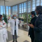 Coronavirus, l'assessore D'Amato visita l'ospedale dei Castelli