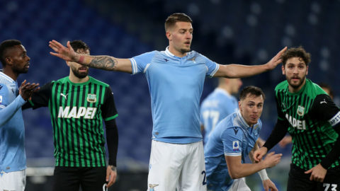 La Lazio passa con il Sassuolo 2-1. Champions più vicina