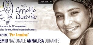 Buon compleanno Annalisa!  Stasera in streaming la Seconda Edizione del Premio Nazionale Annalisa Durante