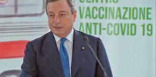 HUB FIUMICINO – Draghi sui vaccini: 500 mila dosi al giorno