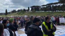 I Commercianti manifestano al Circo Massimo